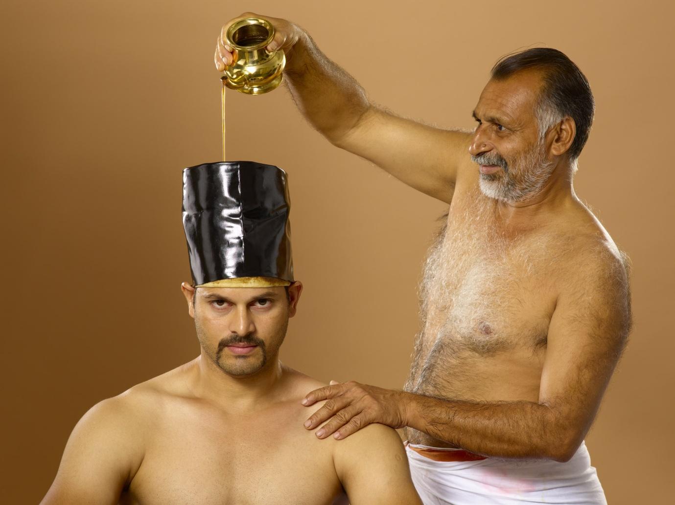 Shiro basti (oil on the head)